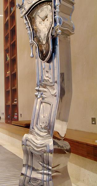 Salvador Dali inspired melting clock