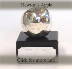 Silver Newtons apple